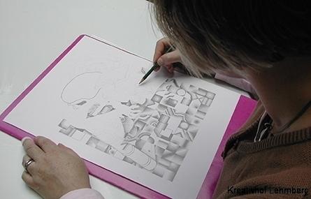 Grafitbild ... in Arbeit