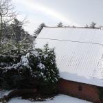 Sommerhaus im Schnee